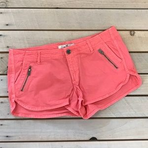 Hollister coral shorts